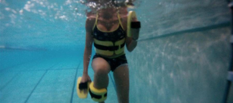 Plan de entrenamiento para correr en el agua.